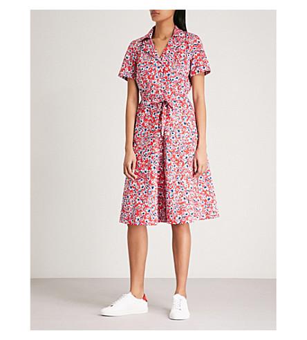 CLAUDIE PIERLOT Floral-pattern cotton shirt dress (Multi-coloured