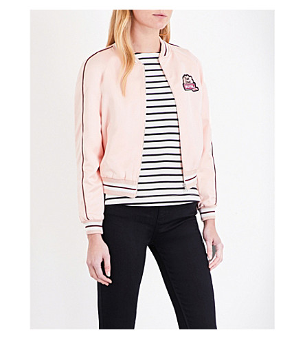 CLAUDIE PIERLOT Vitamine satin bomber jacket (Rose+pale