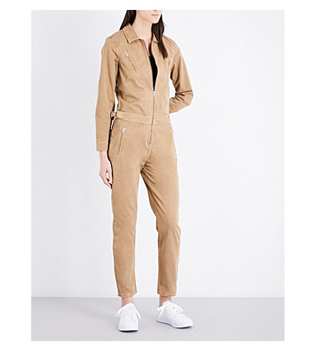CLAUDIE PIERLOT Jamaica denim jumpsuit (Latte