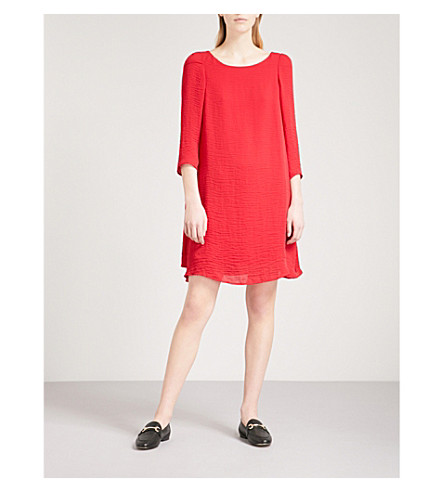 CLAUDIE PIERLOT Textured crepe dress (Red