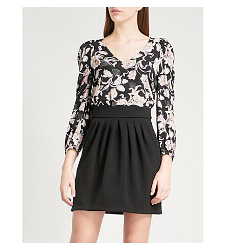 CLAUDIE PIERLOT Bertille Bis floral-pattern crepe top (Black