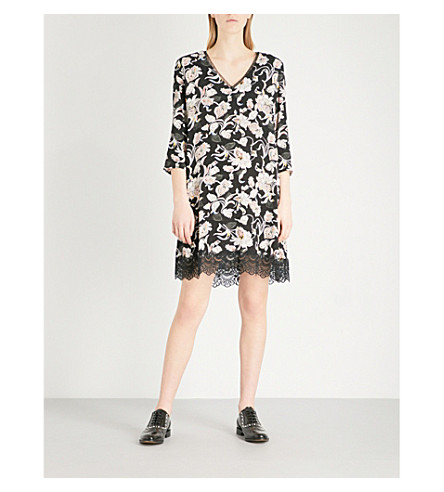 CLAUDIE PIERLOT Victoriane Bis crepe dress (Black