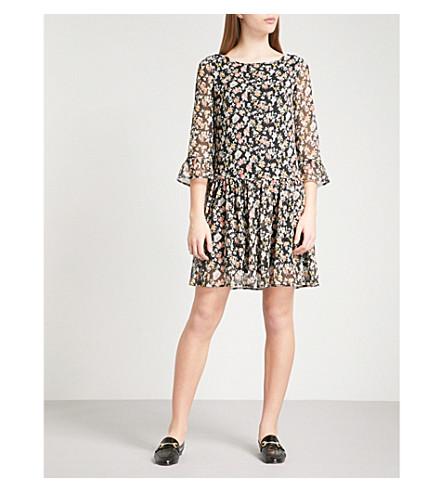 CLAUDIE PIERLOT Rafia chiffon mini dress (Black
