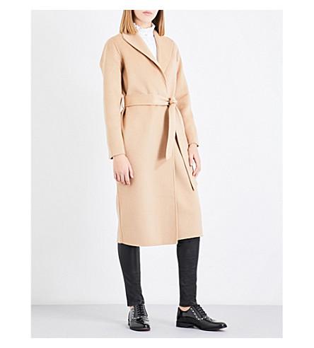 CLAUDIE PIERLOT Shawl-lapel wool coat (Camel