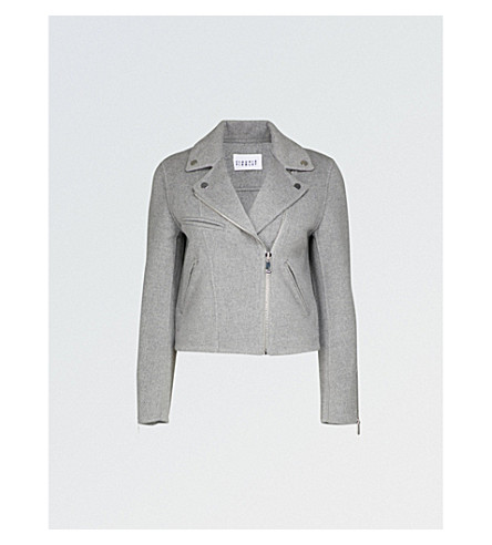 CLAUDIE PIERLOT Brushed wool-blend jacket (Gris+chine