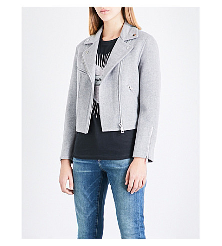 CLAUDIE PIERLOT Brushed wool-blend jacket (Gris+chine
