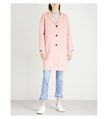 CLAUDIE PIERLOT Notched-lapel wool and cashmere-blend coat (Pink