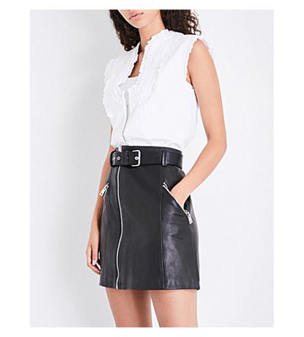 CLAUDIE PIERLOT Frilled cotton waistcoat (Ecru