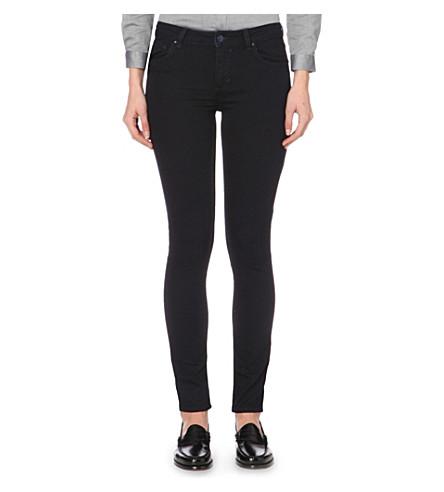 CLAUDIE PIERLOT Power skinny mid-rise jeans (Marine