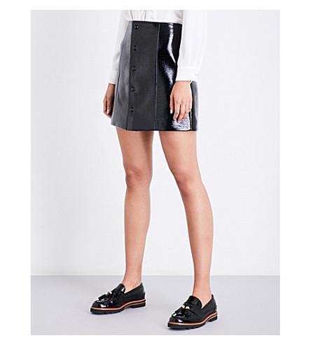 CLAUDIE PIERLOT Sydney faux-patent skirt (Noir