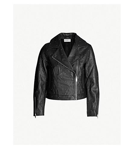 CLAUDIE PIERLOT Cali studded leather jacket (Noir