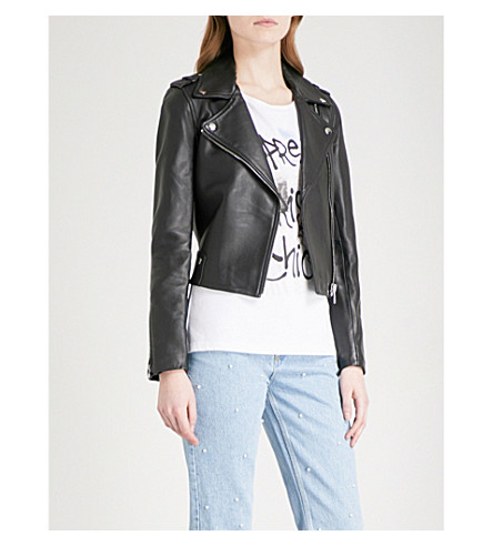 CLAUDIE PIERLOT Leather jacket (Noir