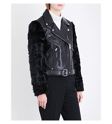 CLAUDIE PIERLOT Credo leather jacket (Noir