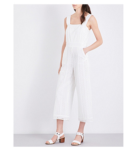 CLAUDIE PIERLOT Jersey cotton jumpsuit (Ecru
