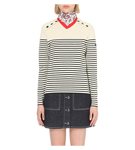 CLAUDIE PIERLOT Matelot striped wool jumper (Ecru