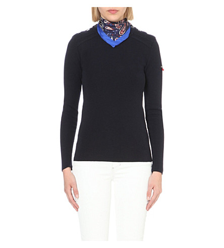 CLAUDIE PIERLOT Meryl wool sweater (Marine