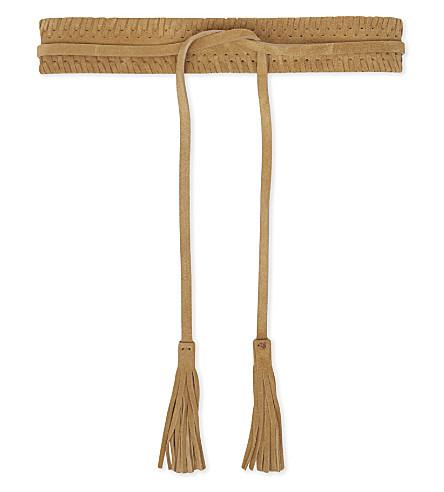 CLAUDIE PIERLOT Amourette leather belt (Beige