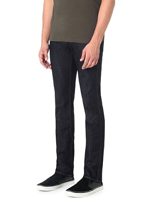 BOSS BLACK CASUAL Slim-fit resin finish jeans