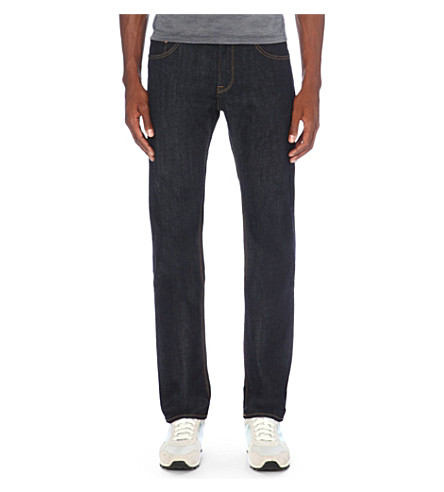 BOSS Regular-fit straight jeans (Navy