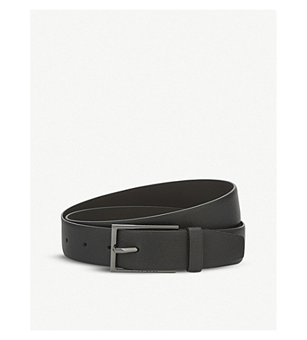BOSS Carmello-S textured leather belt (Black