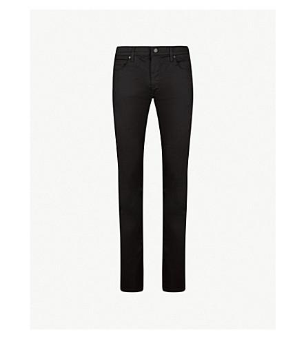 HUGO 修身版型直牛仔裤 (黑色