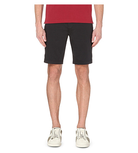 HUGO BOSS Stretch-cotton shorts (Black
