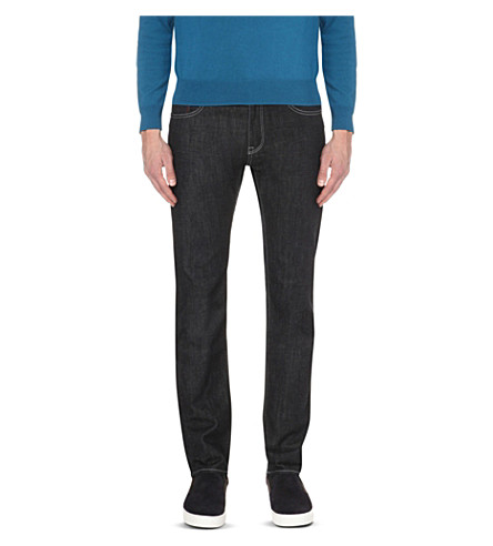 HUGO BOSS Leisure regular-fit tapered jeans (Navy