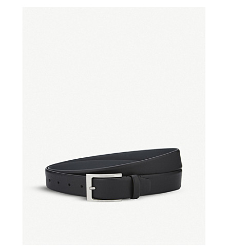 BOSS Barnabie leather belt (Black