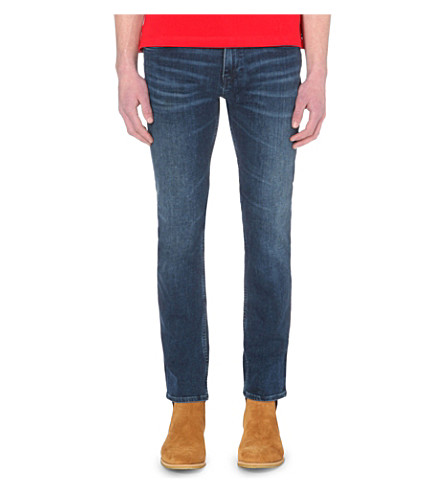 HUGO BOSS Slim-fit tapered jeans (Medium+blue