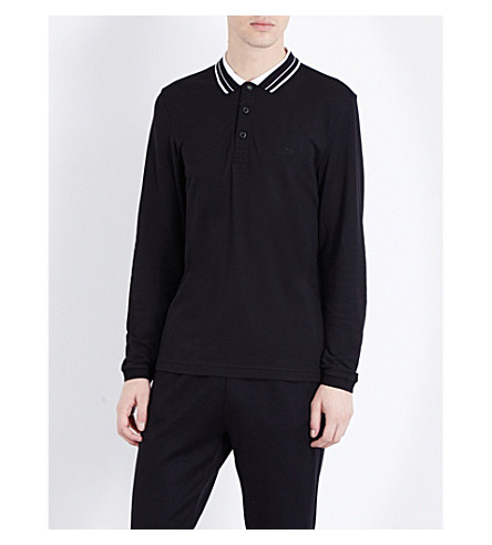 HUGO BOSS Piqué jersey polo shirt (Black