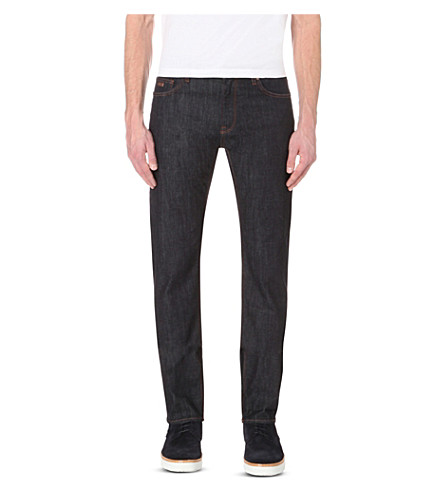 BOSS Leisure slim-fit tapered denim jeans (Navy