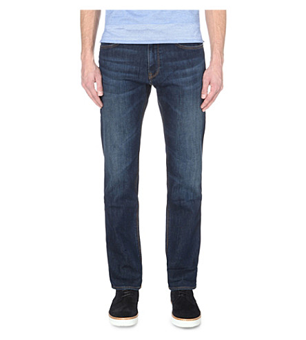 BOSS Leisure regular-fit mid-rise jeans (Medium+blue