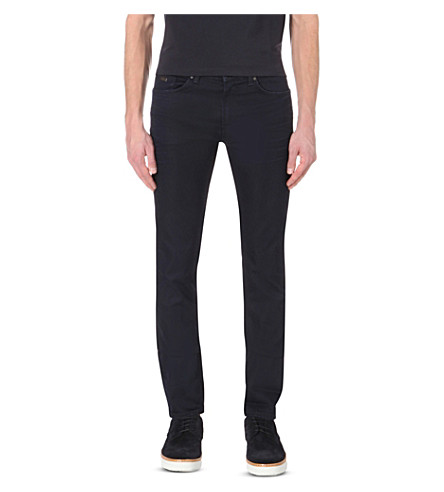 HUGO BOSS Leisure slim-fit tapered denim jeans (Navy