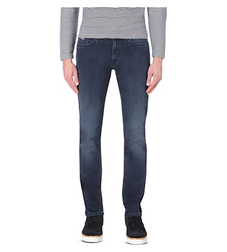 HUGO BOSS Leisure slim-fit tapered denim jeans (Medium+blue