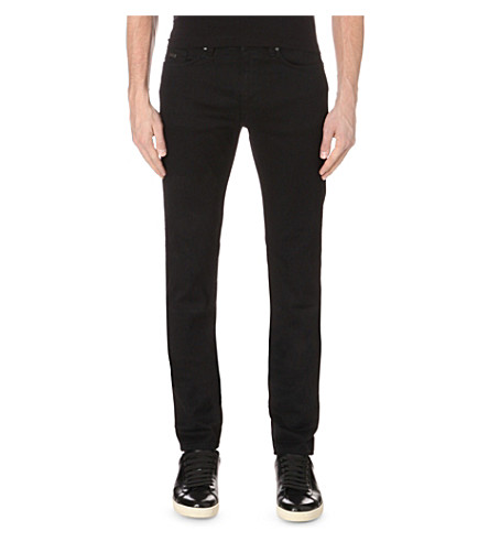 BOSS Leisure slim-fit tapered stretch-denim jeans (Black