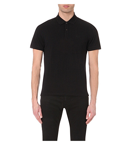 BOSS BLACK CASUAL Slim-fit cotton-piqué polo shirt (Black