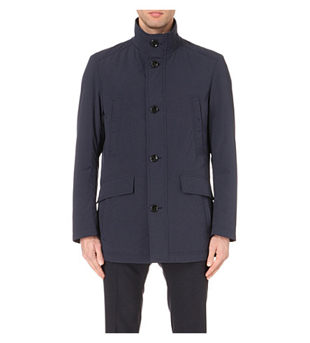 BOSS Stand-up collar shell jacket (Navy