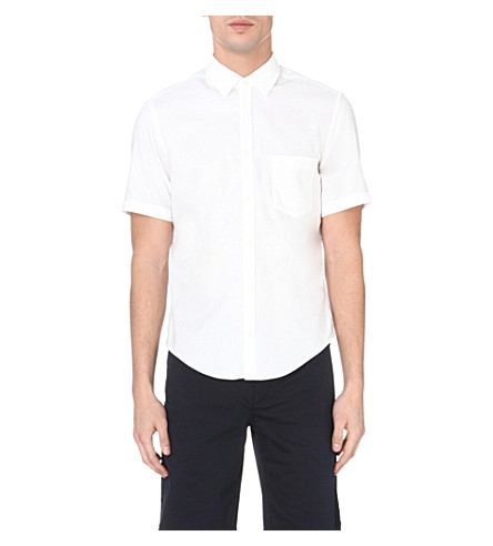 BOSS GREEN Modern-fit cotton shirt (White