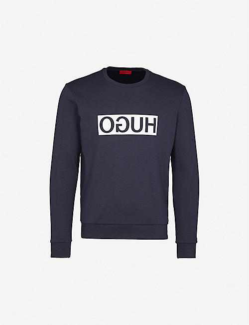 HUGO Reverse Logo cotton-jersey sweatshirt