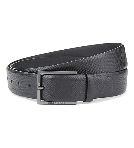 HUGO BOSS Camilo leather belt (Black
