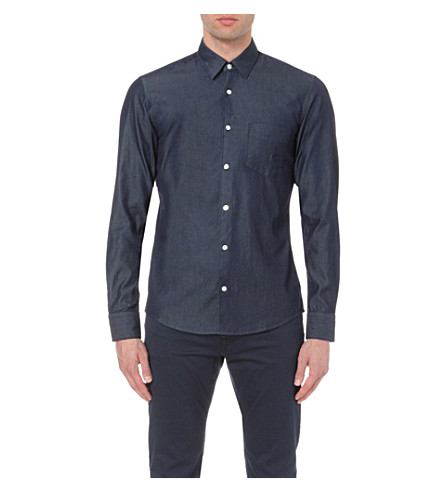 fa0278283c3 BOSS Leisure denim shirt (Navy