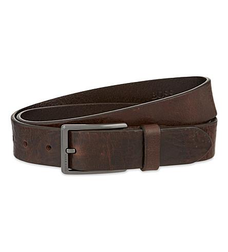 BOSS Sammy leather belt (Dark brown