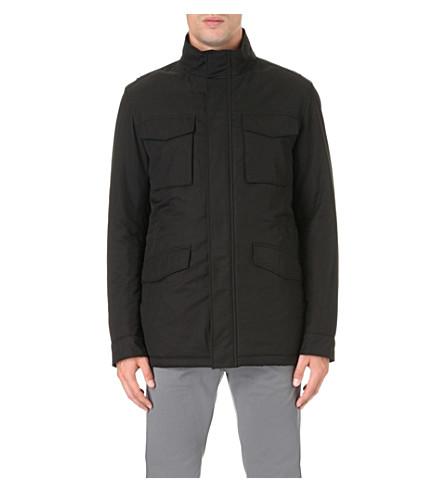 BOSS 防水软壳面料夹克 (黑色