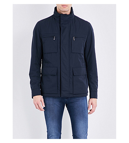 BOSS Patch pocket shell jacket (Dark+blue