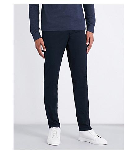 BOSS Slim-fit stretch-cotton chinos (Dark+blue