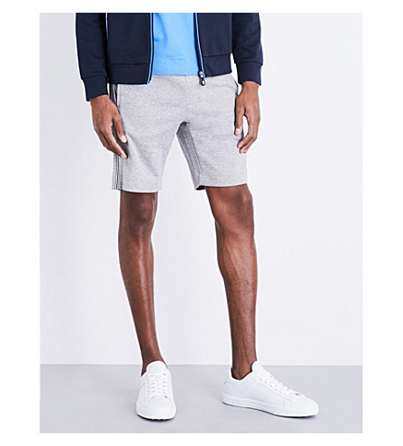BOSS GREEN Piped-detail cotton-jersey shorts (Light/pastel+grey