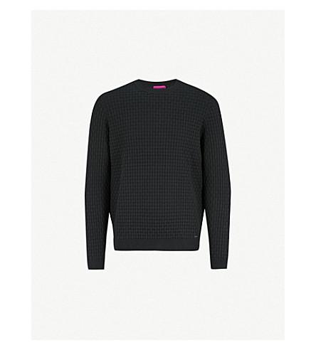 HUGO Crewneck knitted jumper (Black