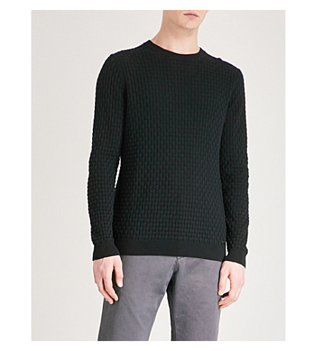 HUGO Crewneck knitted jumper (Black