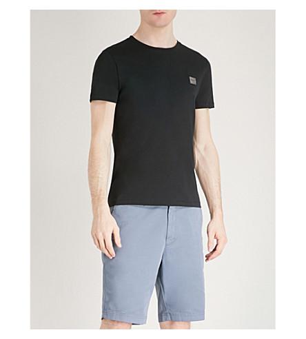 BOSS ORANGE Crewneck cotton-jersey T-shirt (Black