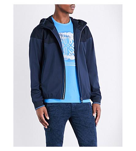 BOSS Hooded shell jacket (Navy